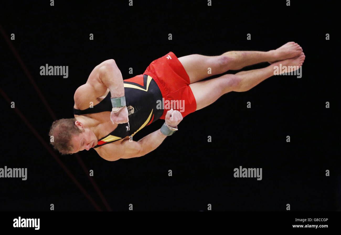 Gymnastics - 2015 World Championships - Day Three - The SSE Hydro - Stock Image