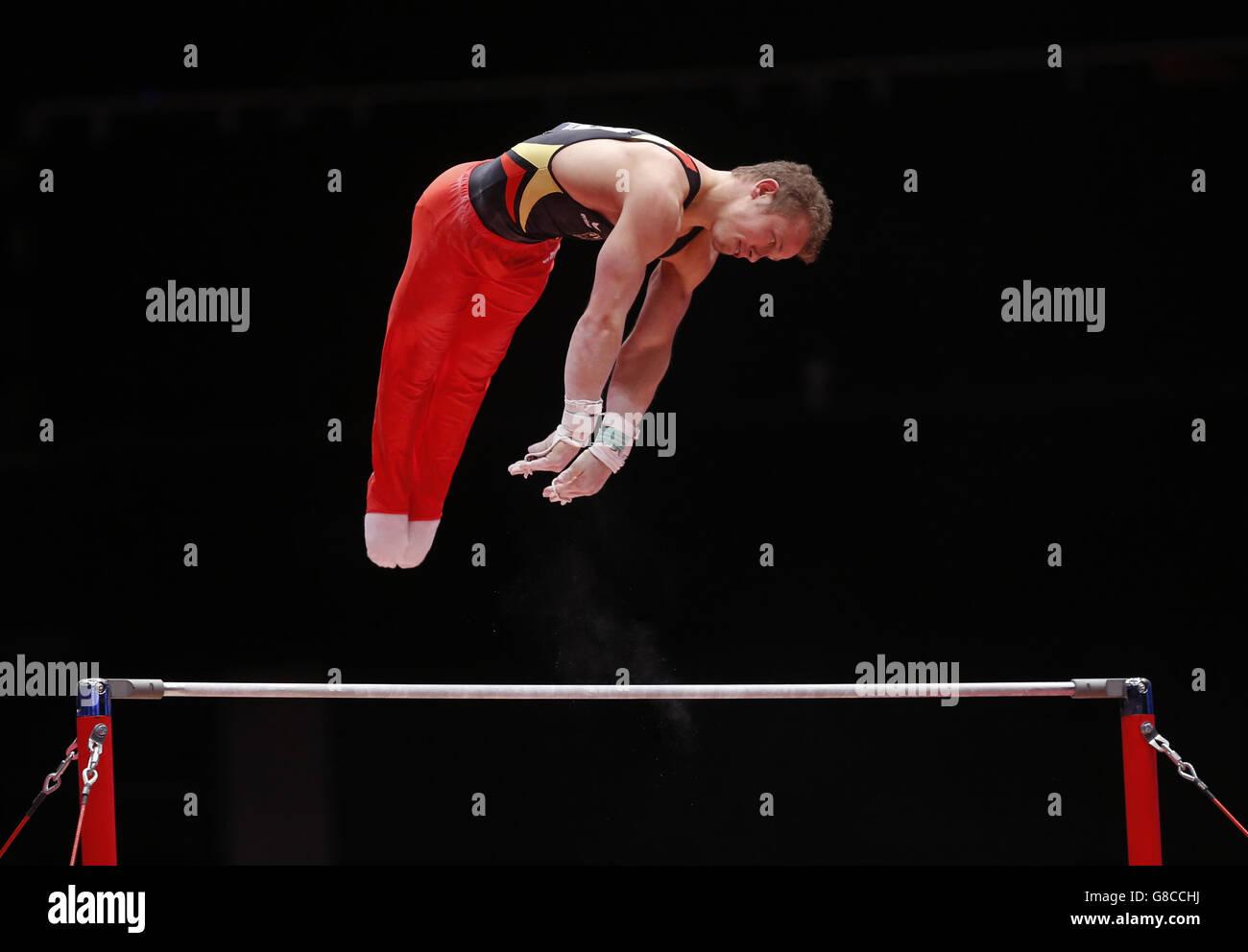 Gymnastics - 2015 World Championships - Day Three - The SSE Hydro Stock Photo