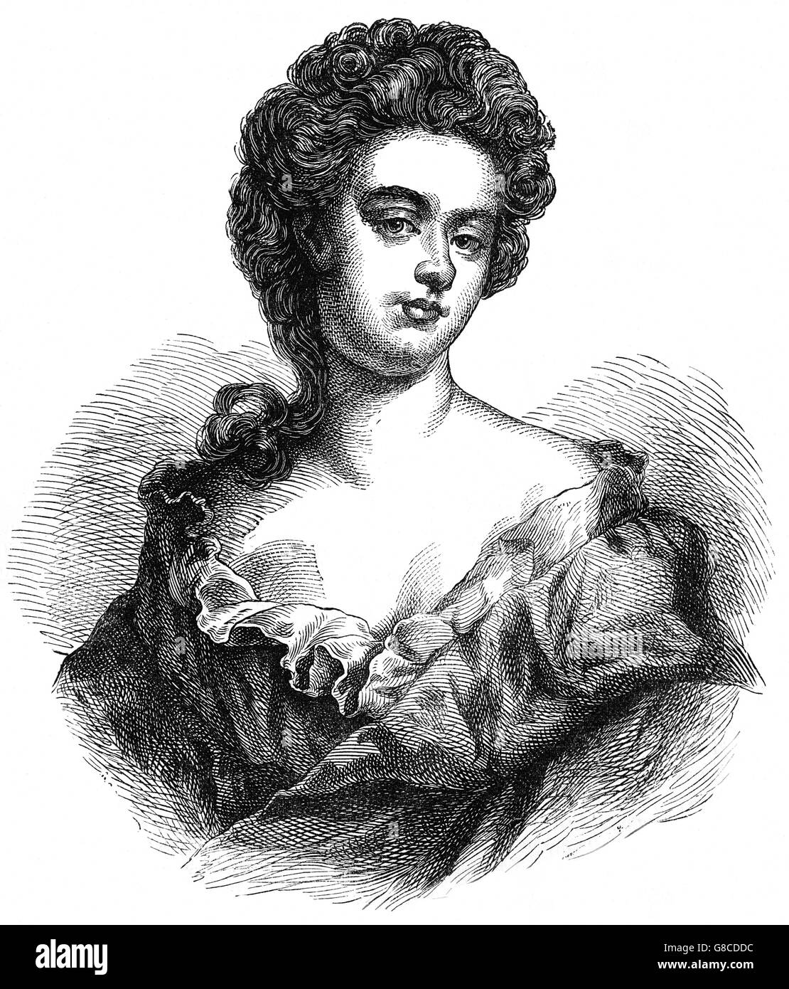 Sarah Churchill, Duchess of Marlborough rose to be one of the most influential women of her time through her close - Stock Image