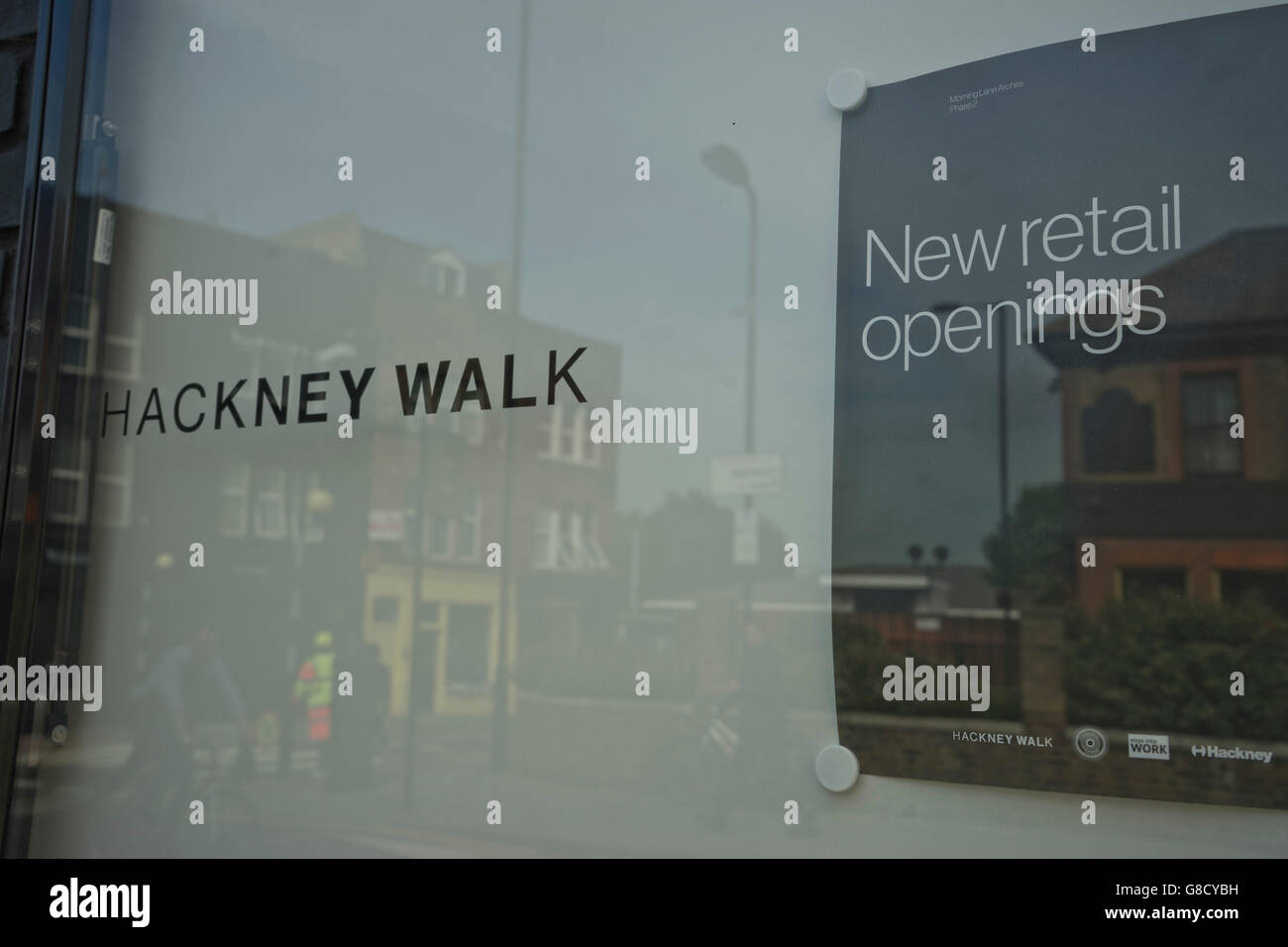 New brand retail outlets in Hackney, east London, UK - Stock Image