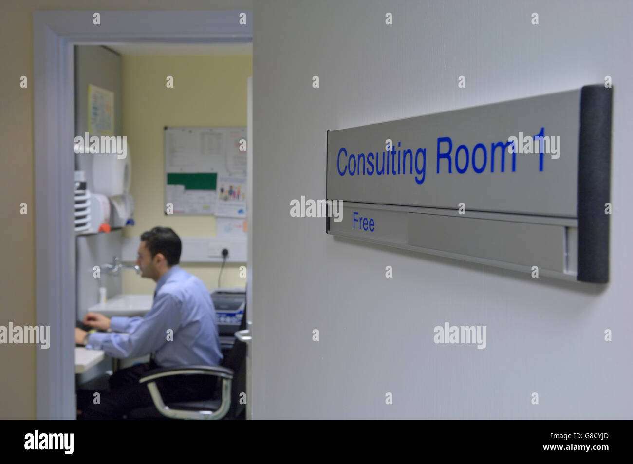 Doctors consulting room. England. UK - Stock Image