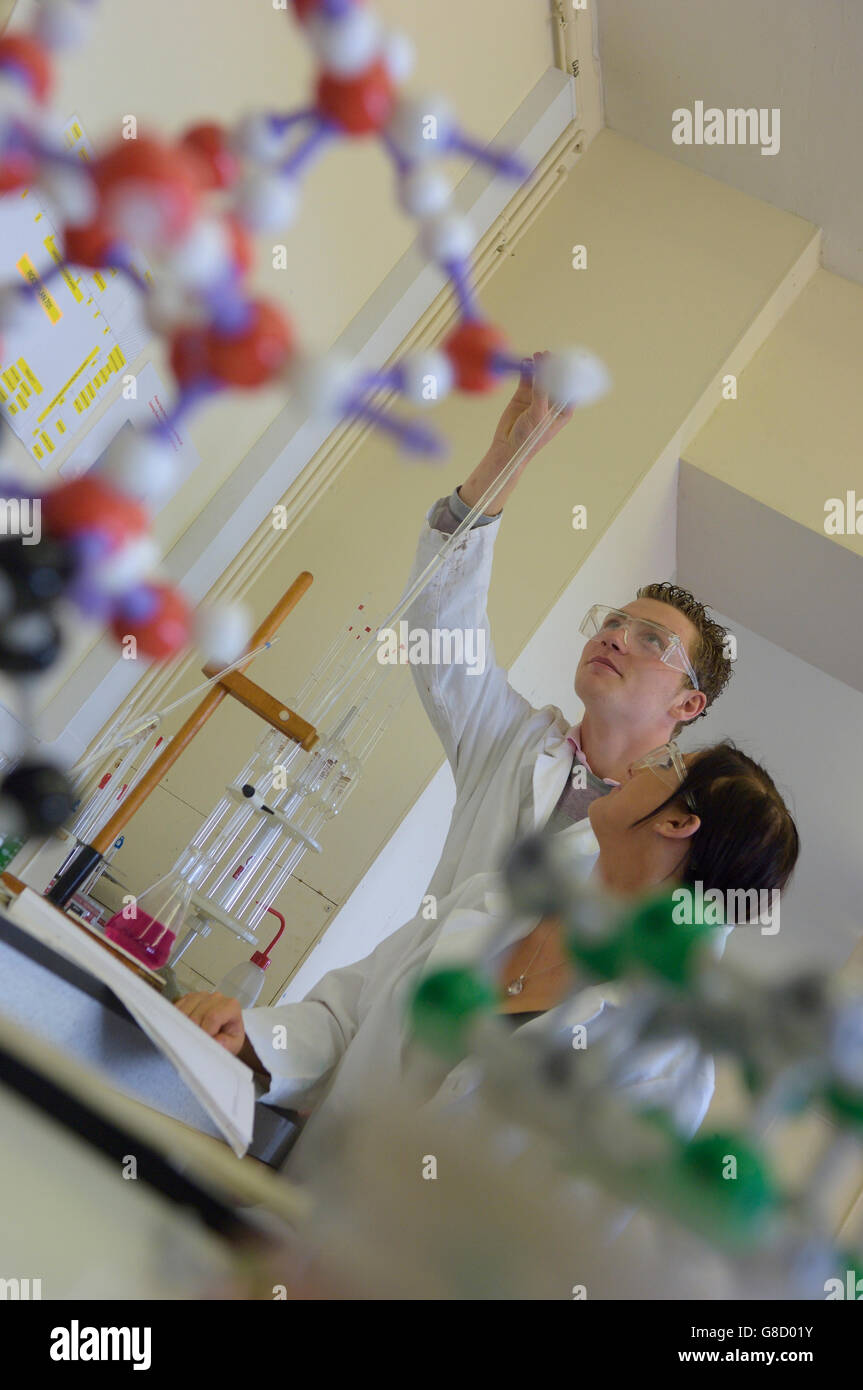 School science lesson. England. UK. Europe - Stock Image