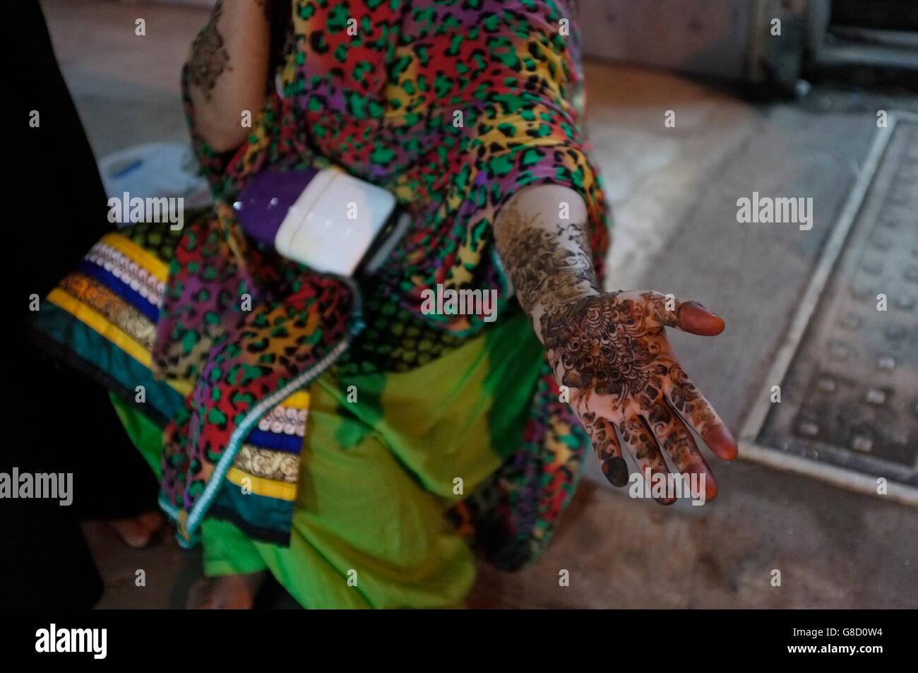 Henna Or Mehndi : Indian henna or mehndi designs on a womans hand and arm kurla