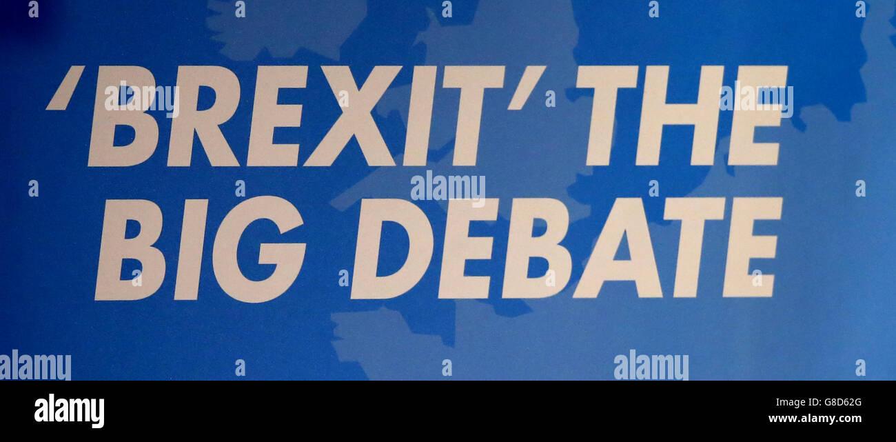 Brexit - The Big Debate - Stock Image