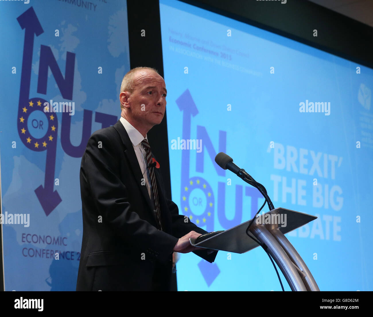 Shadow Europe Minister Pat McFadden during the Newry Mourne and Down District Council, hosted Brexit - The Big Debate - Stock Image