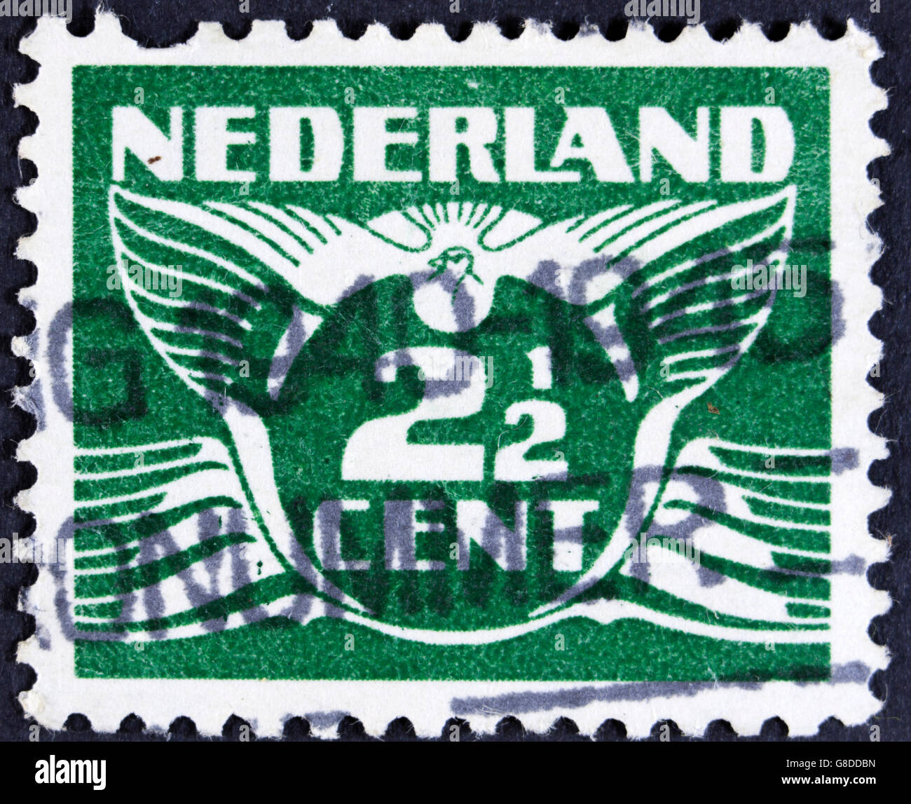 NETHERLANDS - CIRCA 1941:  A 2 1 2 cent stamp printed in the Netherlands, circa 1941 - Stock Image