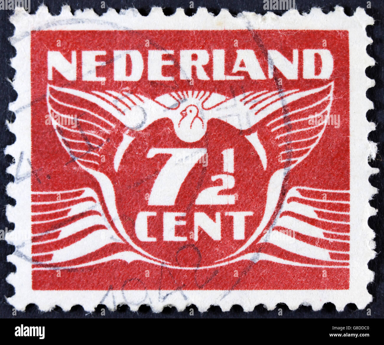 NETHERLANDS - CIRCA 1941 : A 7 1 2 cent stamp printed in the Netherlands, circa 1941 - Stock Image