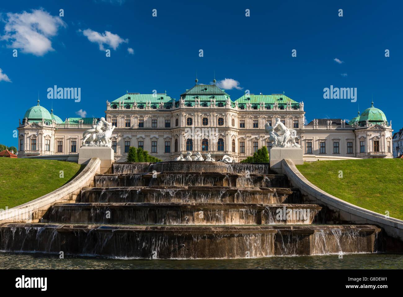 Upper Belvedere, Vienna, Austria - Stock Image