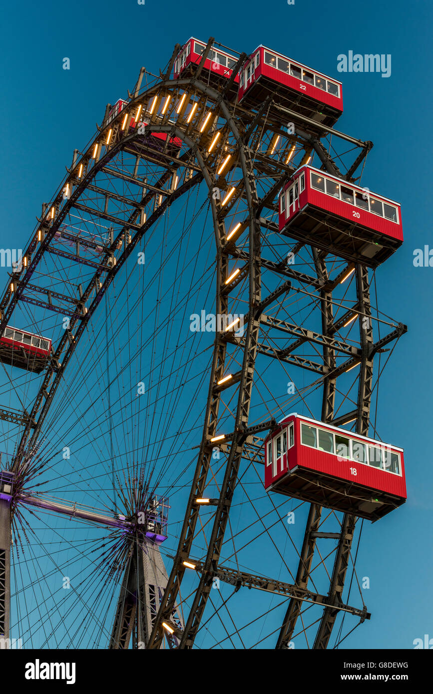 Wiener Riesenrad, Prater, Vienna, Austria - Stock Image