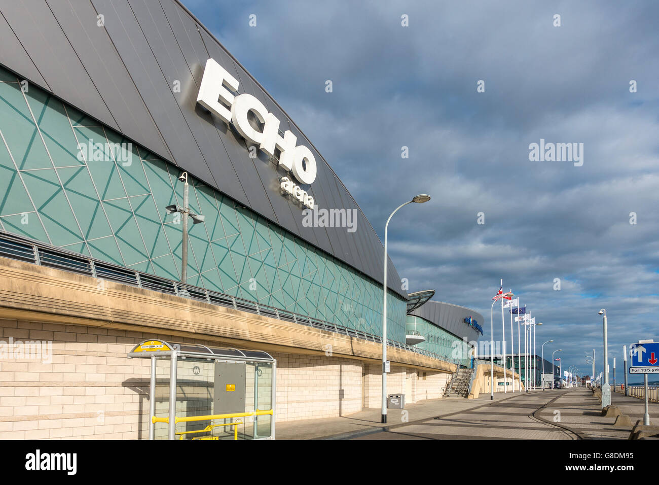 Echo Arena and Liverpool Exhition Centre Albert Dock Liverpool UK - Stock Image