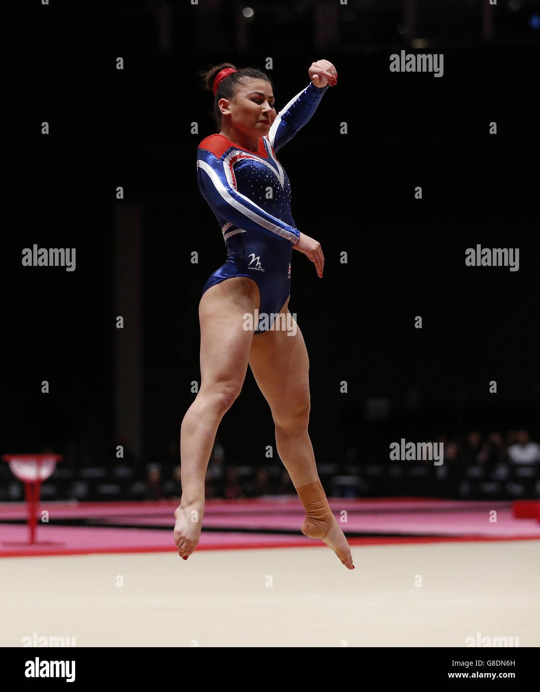 Gymnastics - 2015 World Championships - Day Ten - The SSE Hydro Stock Photo