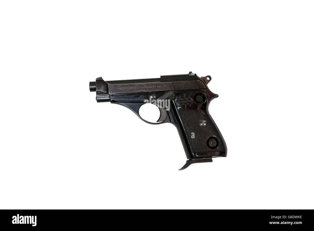 Beretta handgun cal. 7.65 pistol, cut out - Stock Image