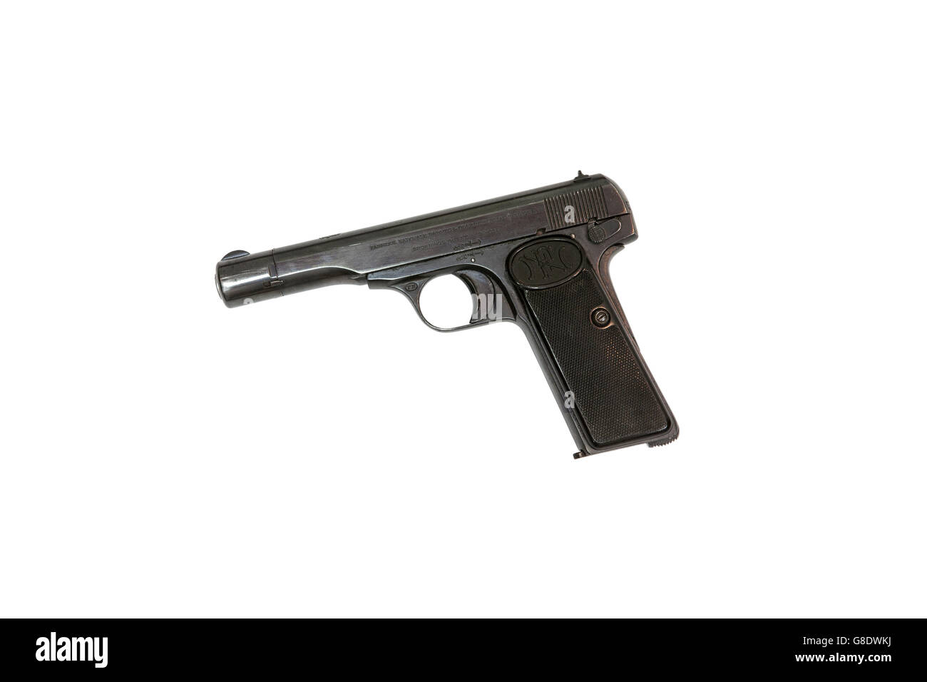Browning FN Model 1910 cal. 7.65, cut out - Stock Image