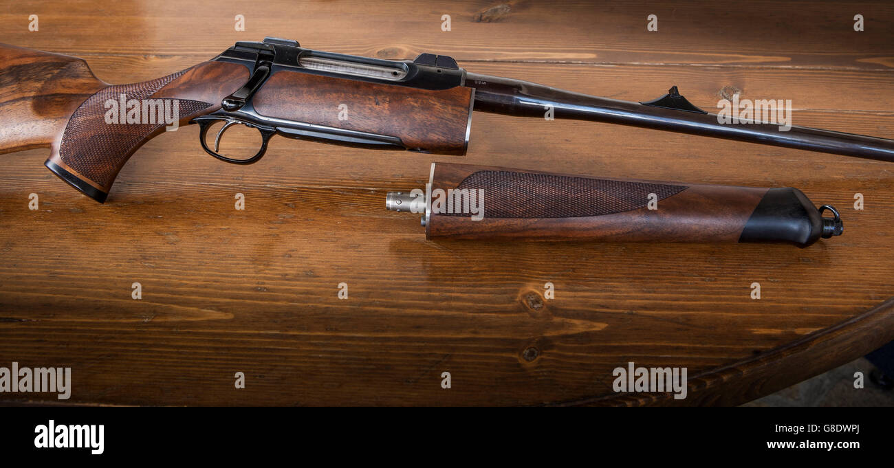 Sauer 202 takedown disjointed, close up detail - Stock Image