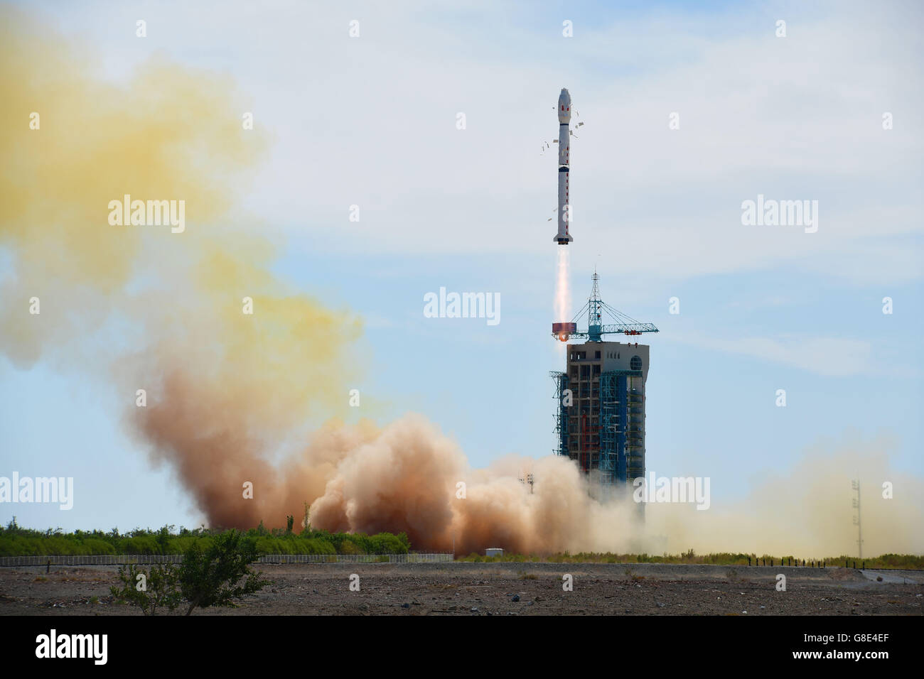 A Long March-4B rocket carrying China's second Shijian-16 series satellite  blasts off at the Jiuquan Satellite Launch Center in Jiuquan, northwest  China's ...