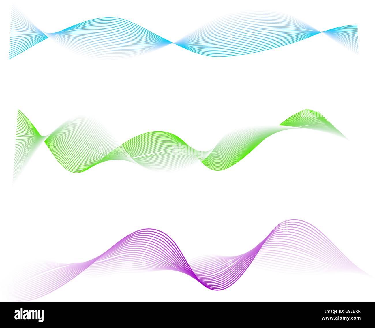 Waved design element vector illustration - Stock Image