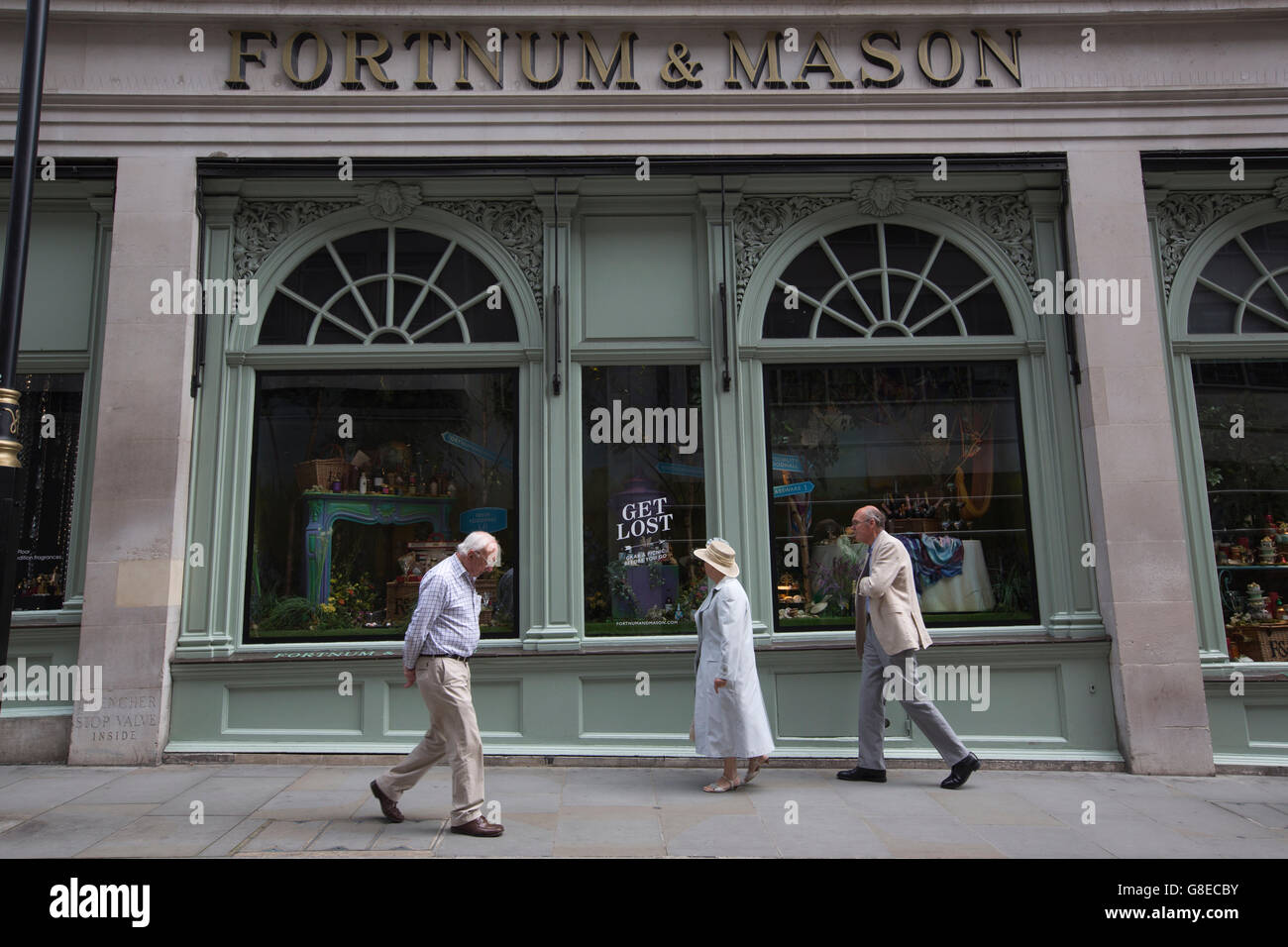Fortnum & Mason, upmarket department store situated on Piccadilly, Central London, England, UK - Stock Image