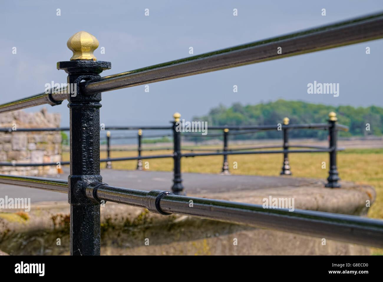 Cast Iron Railings - Stock Image
