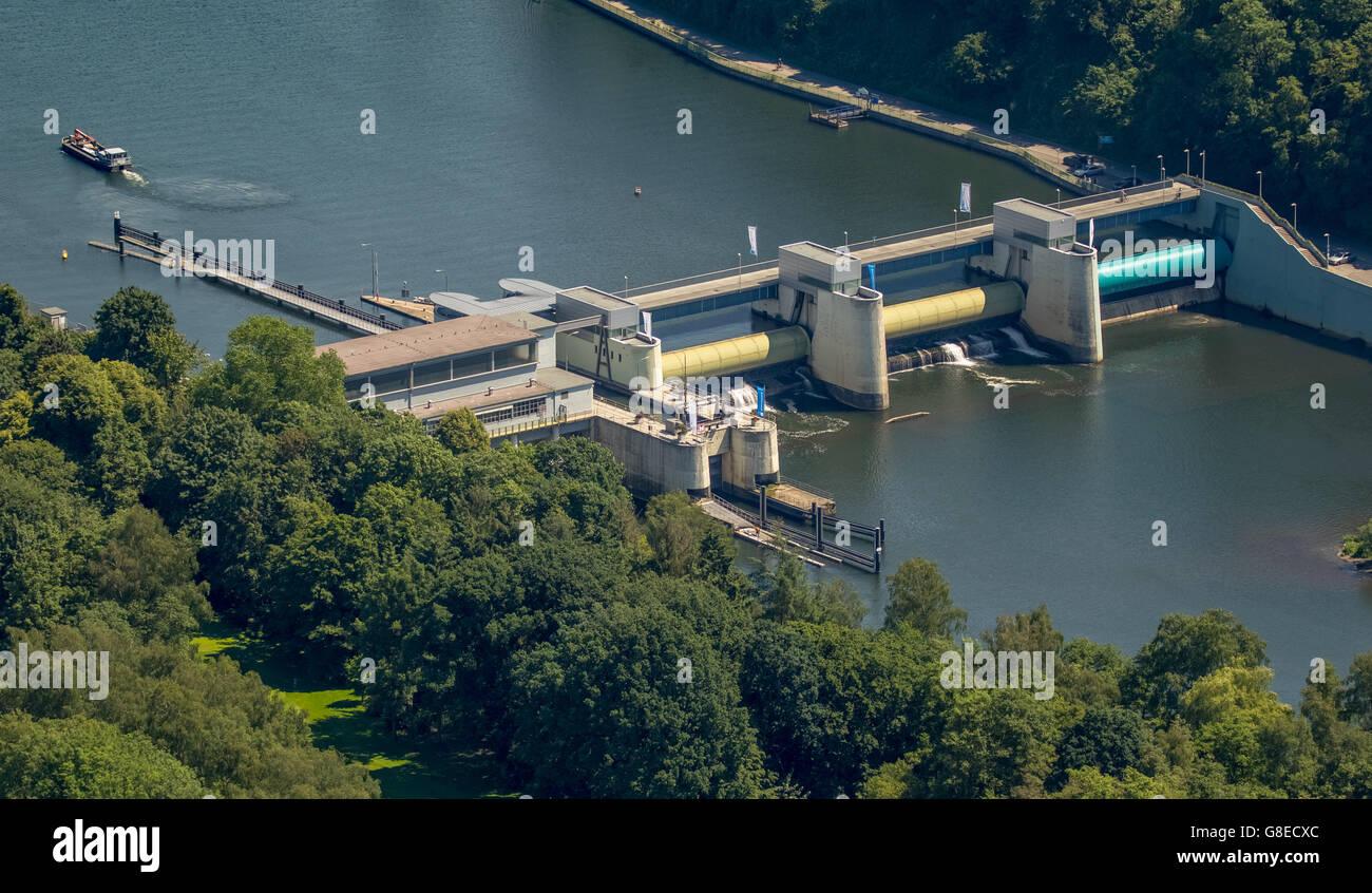 Aerial view, Essen, Ruhr Area, North Rhine Westphalia, Germany, Europe, Aerial view, birds-eyes view, aerial view, - Stock Image