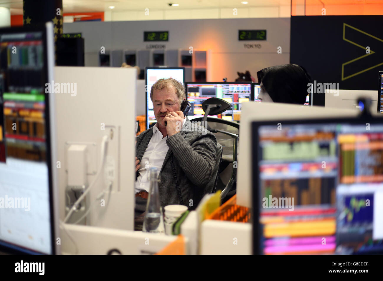 Bloomberg Tradebook charity day - Stock Image