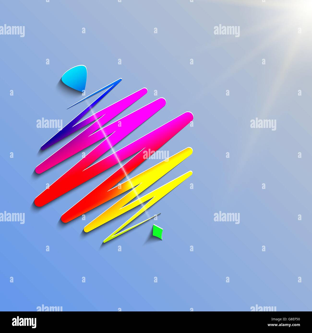 modern color whirligig, on an abstract background. Fast whirlabout. Luminous peg-top. Vector illustration EPS10 - Stock Image