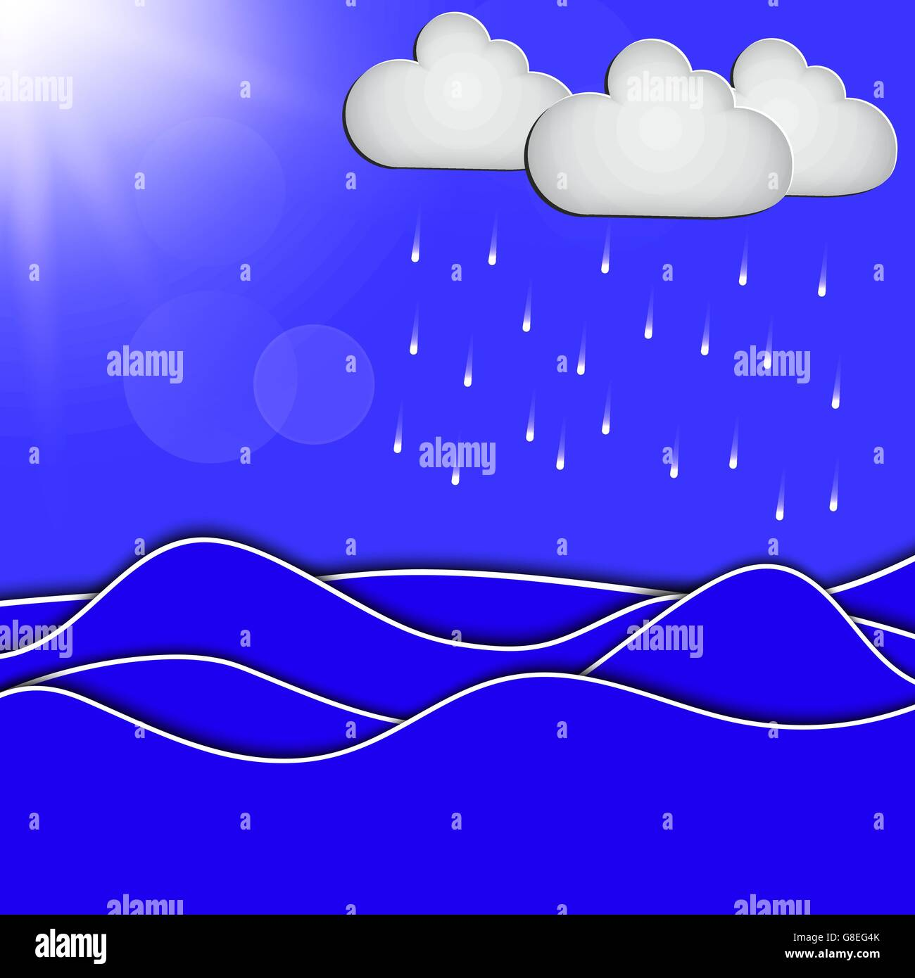 abstract concept of cloud with dropping water. EPS10. Vector - Stock Vector