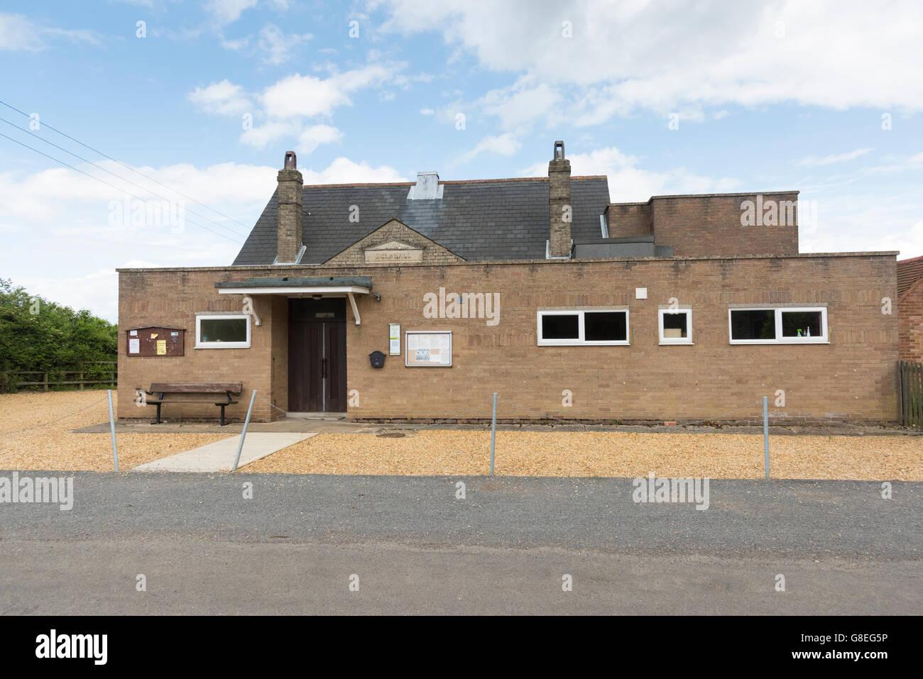 The village hall at Kelshall near Royston Hertfordshirre Uk - Stock Image