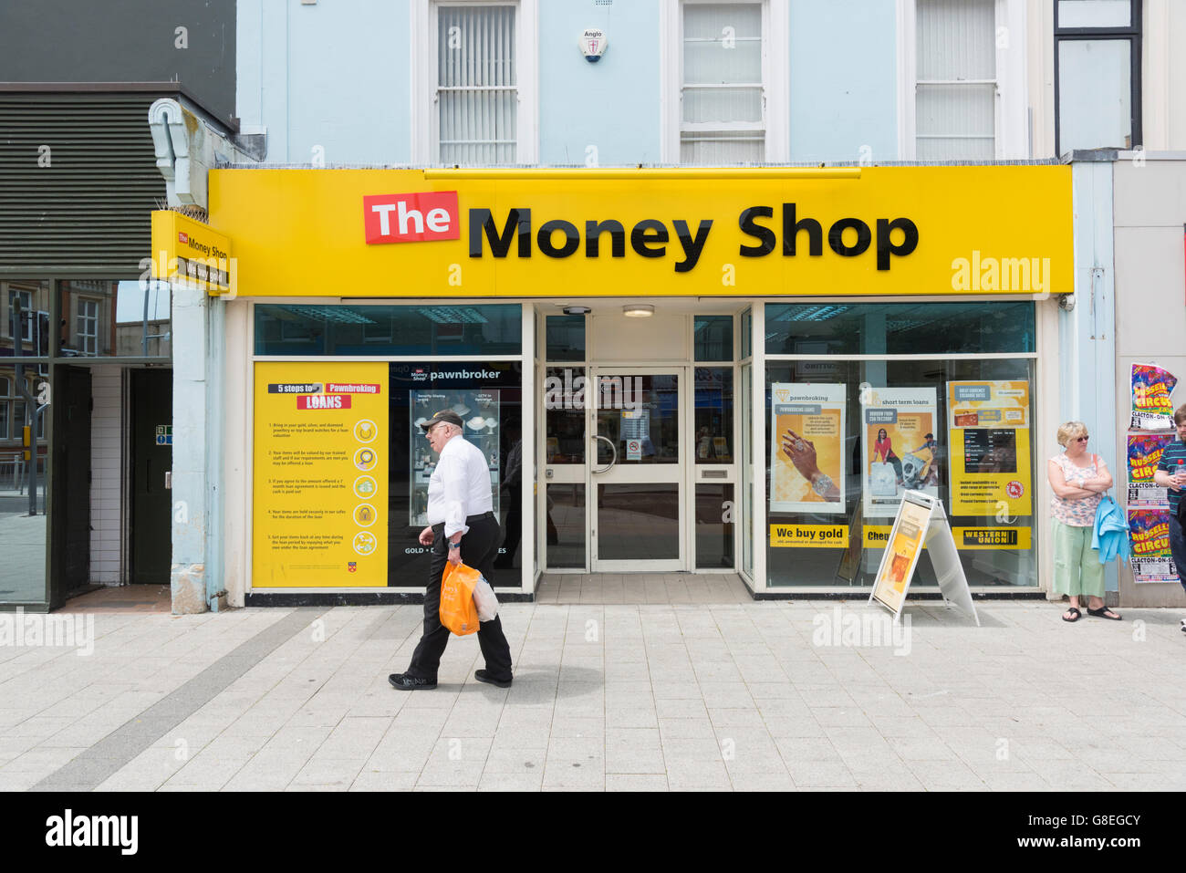 The Money Shop loans outlet in Clacton UK - Stock Image