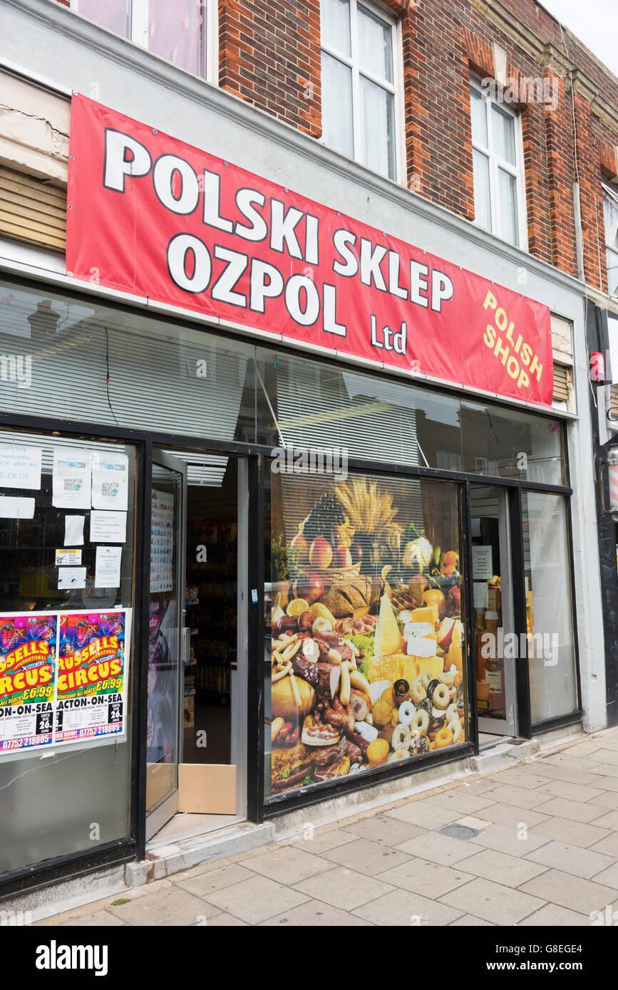 A Polish Shop Or Polski Sklep Ozpol In Clacton UK