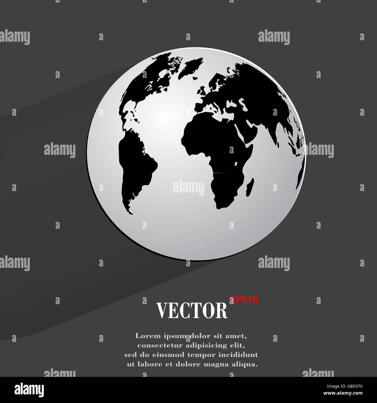 World map flat vector vectors stock photos world map flat vector world map web icon flat design vector illustration eps10 stock image gumiabroncs Image collections