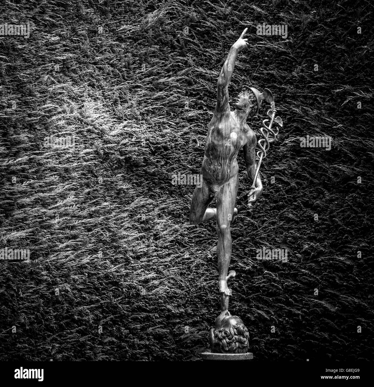 Flying Mercury the Roman god - Stock Image