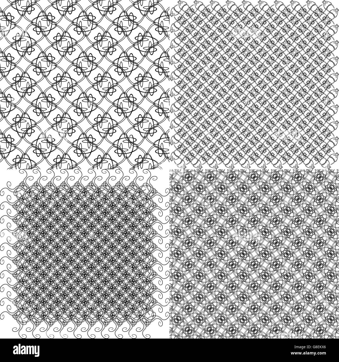 Set abstract vintage geometric wallpaper pattern background with place for your text - Stock Image