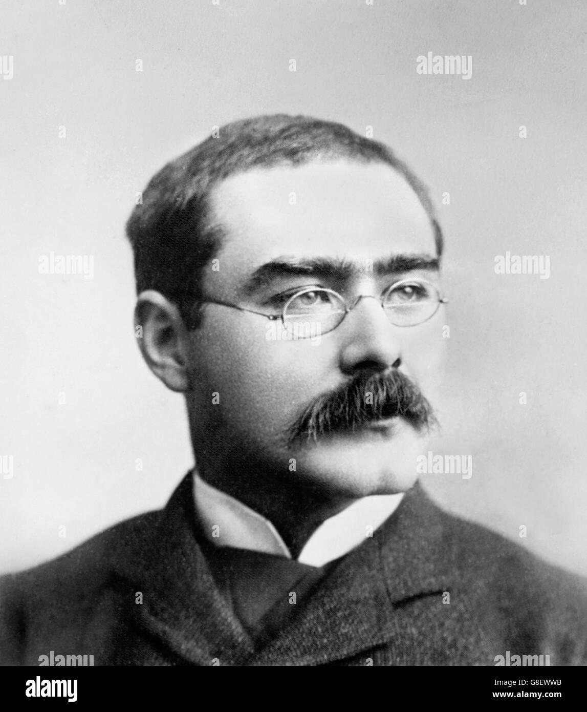 Rudyard Kipling. Portrait of the English writer, Joseph Rudyard Kipling. Photo by Bain News Service, date unknown - Stock Image