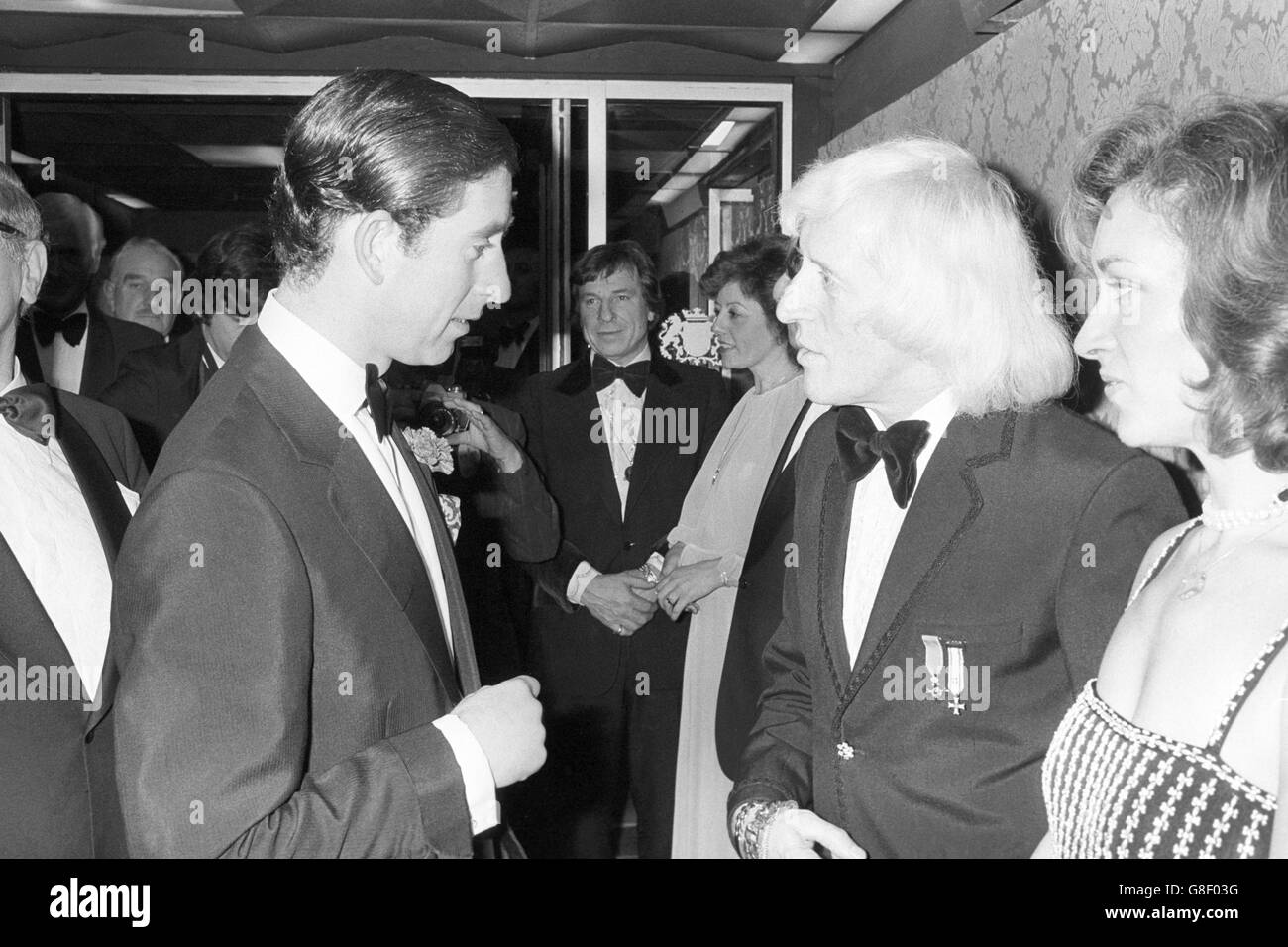Prince Charles and Jimmy Savile - Caerphilly, Wales - Stock Image