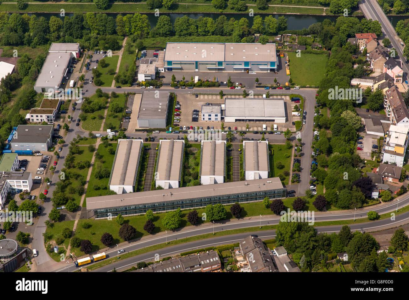 Aerial view, forensics Herne-Wanne, preventive detention, mental hospital, Herne Wanne-Eickel, Herne, Ruhr area, - Stock Image