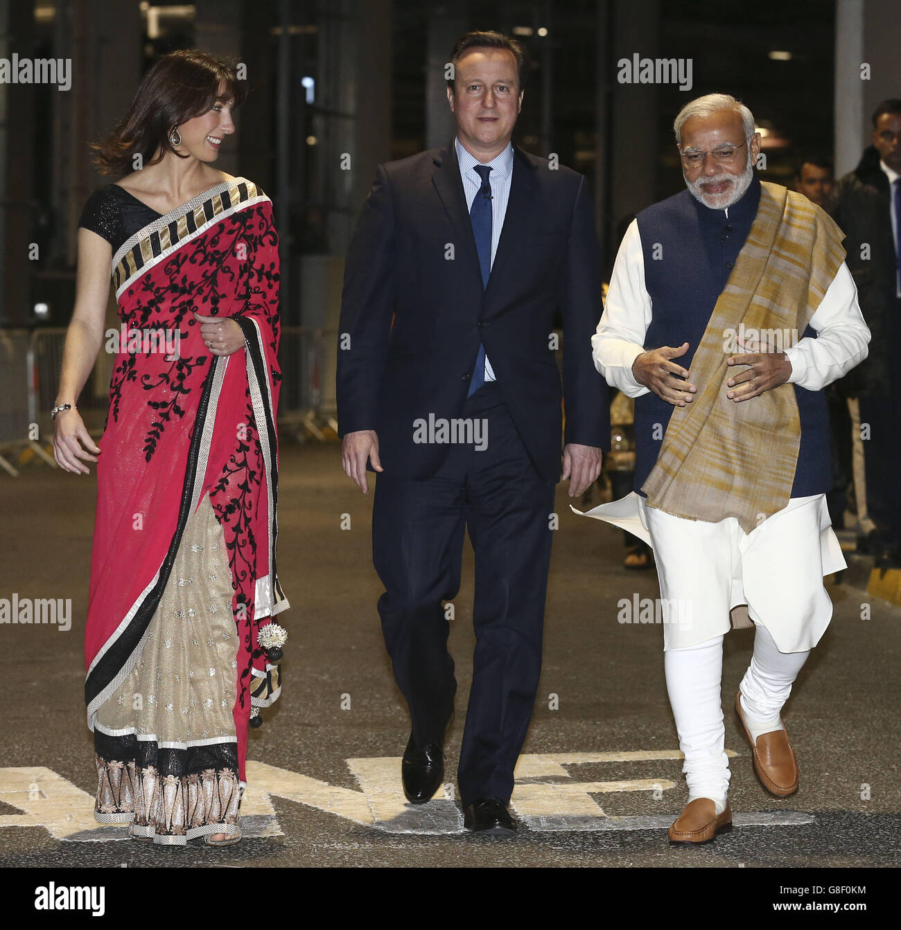 Indian Prime Minister visit to UK - Day Two - Stock Image