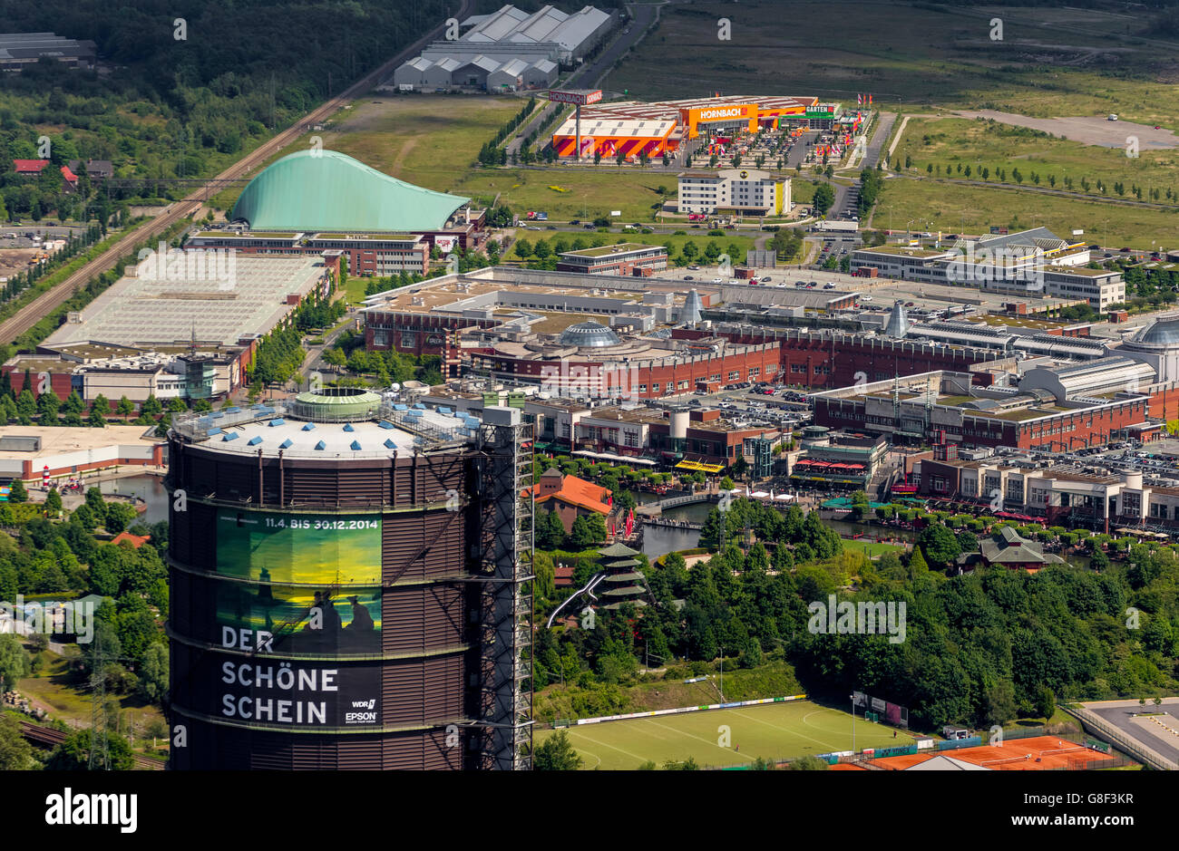 factory authentic c3fab 2db6c Aerial View To Gasometer Oberhausen Stock Photos & Aerial ...