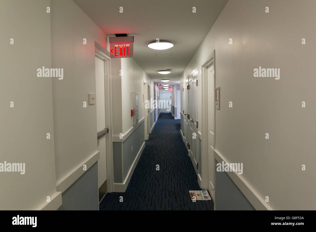 Hallway at the Hotel Indigo - Stock Image