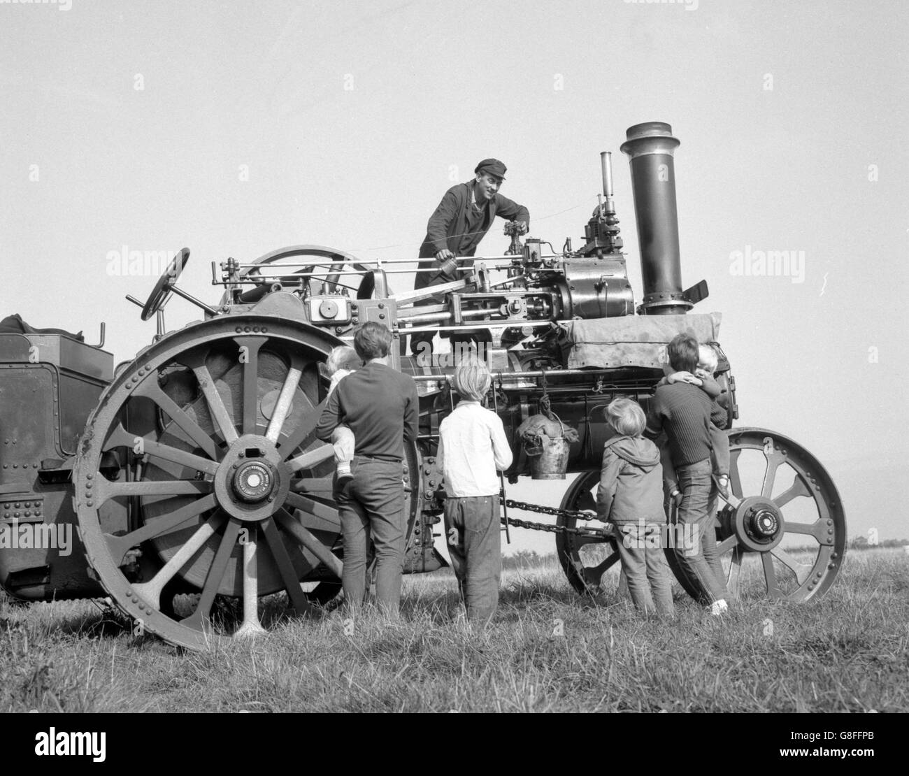 1926 Marshall 6 HP Traction Engine - John Fieldgate - Marks Tey, Essex - Stock Image