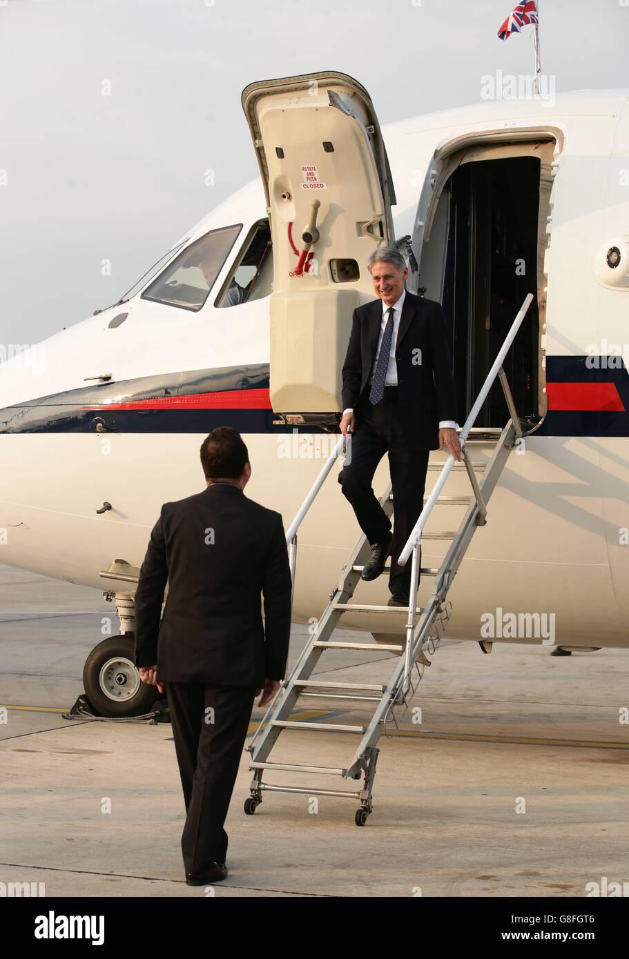 Philip Hammond Albania visit - Stock Image