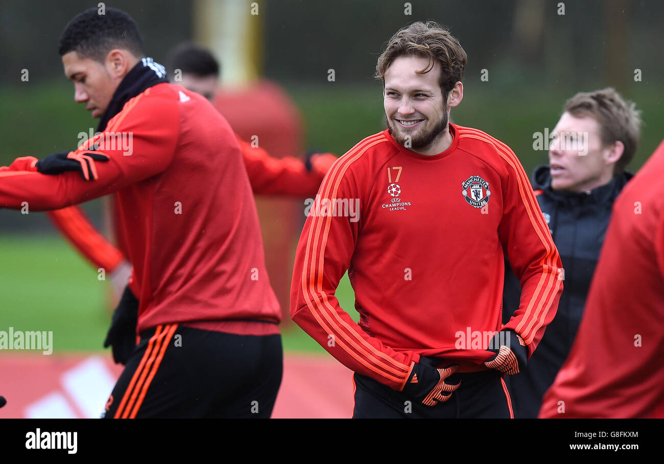 aa4766a4c Manchester United Training - UEFA Champions League - Group B - Manchester  United v PSV Eindhoven - Aon Training Complex