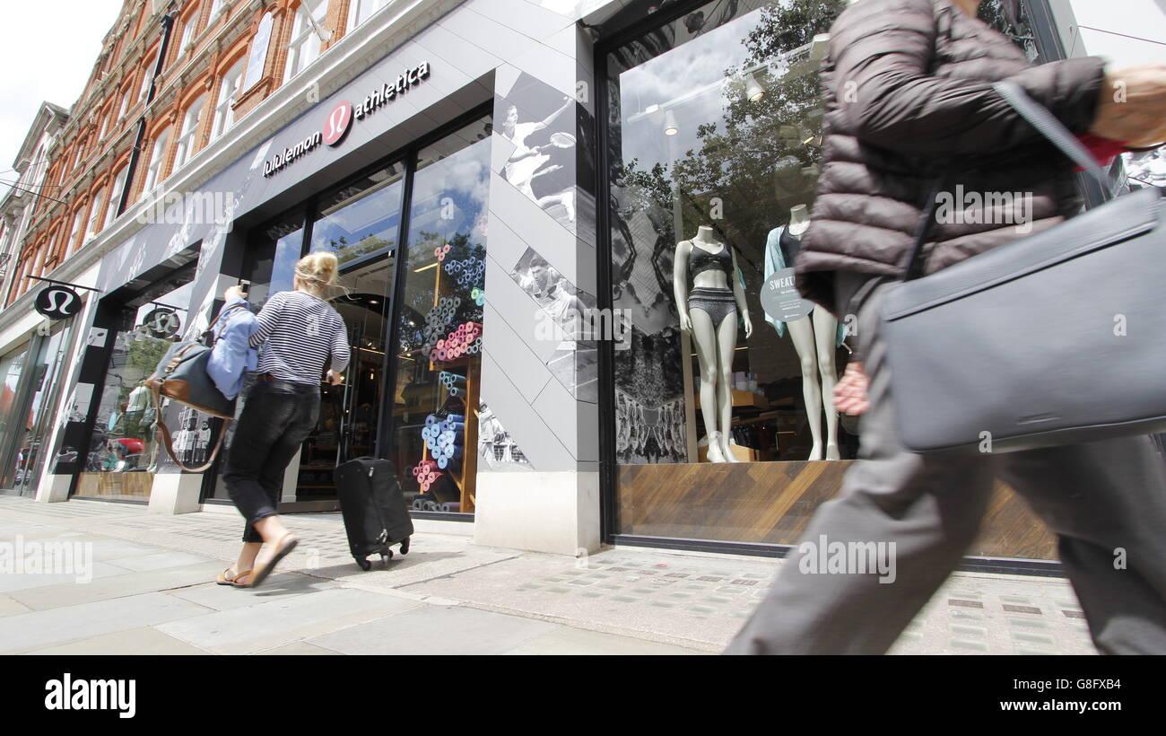 76ce2c558ac Kings Road Chelsea London Lululemon Athletica retail outlet shop - Stock  Image