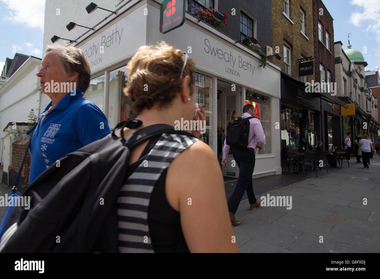 Sweaty Betty Kings Road Chelsea London - Stock Image