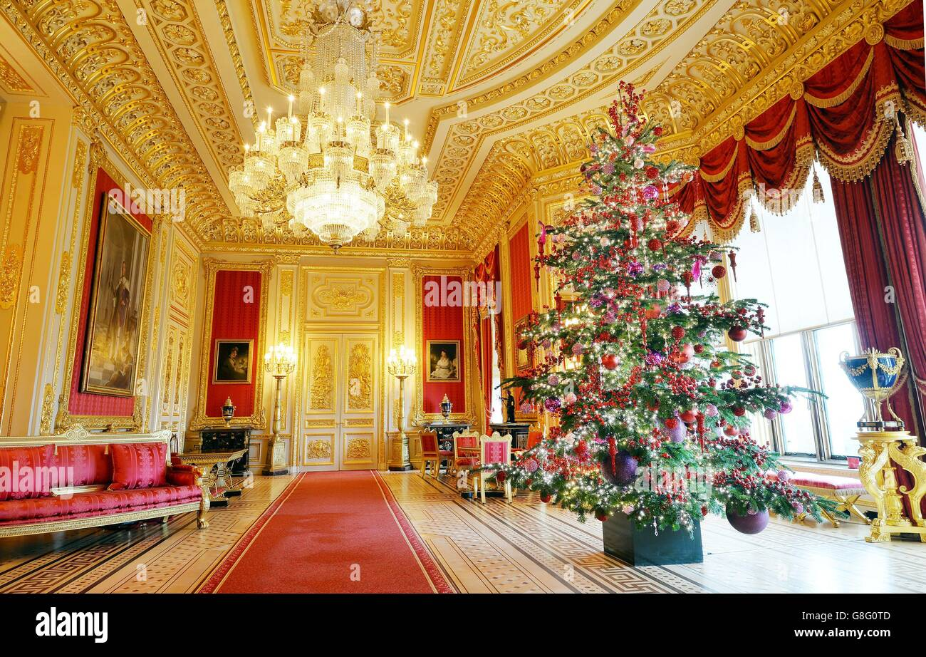 windsor castles christmas display stock image - Decorative Christmas Tree Stands
