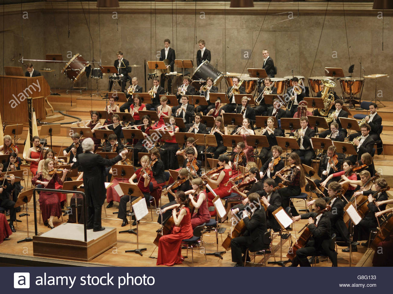 Youth orchestra, Herkulessaal, Residenz, Munchen, Bavaria, Germany - Stock Image