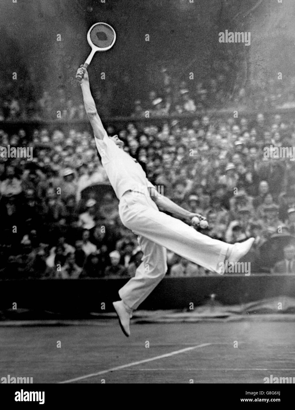 Great Britain v Australia - Davis Cup - Final - Centre Court - 1936 - Stock Image
