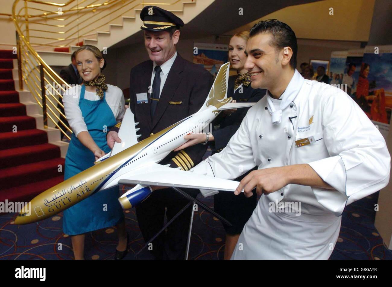 Gulf Air's Dublin to Bahrain Launch - Stock Image