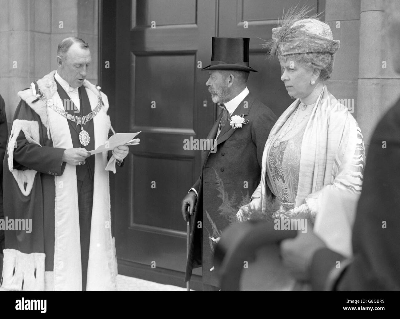 King George V and Queen Mary - Portobello, London - Stock Image