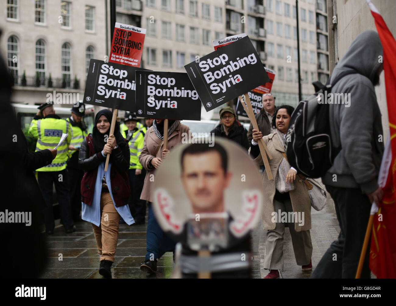Syria conflict - Stock Image