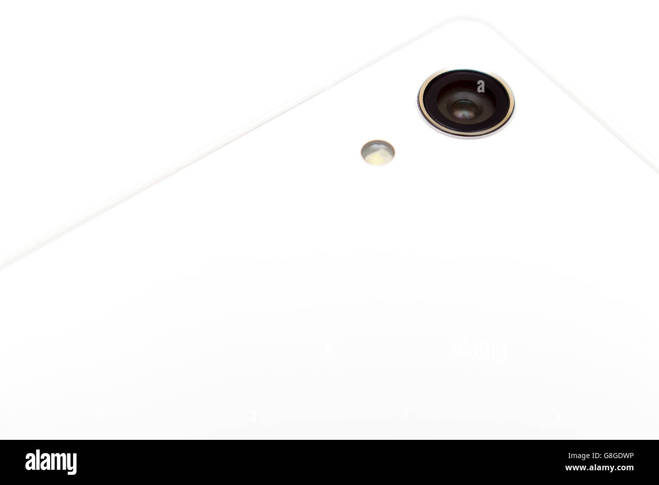 Minimalistic detail of smartphone camera - Stock Image